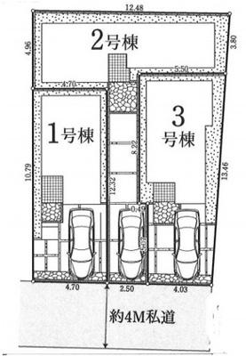 【区画図】大和市鶴間第2期 新築
