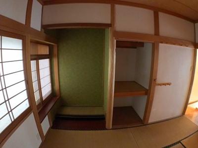 2階和室の収納の写真です♪