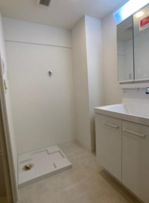 シャワー付き洗面化粧台、室内洗濯機置き場