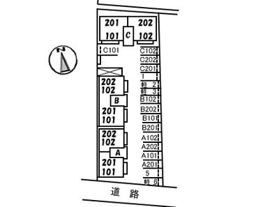 【区画図】シャーメゾン愛宕山 B棟