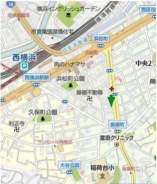 【地図】西区浜松町 商業地域 一棟ビル