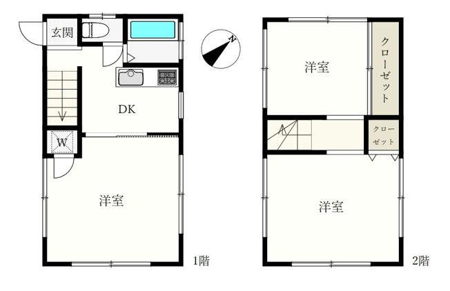 3DK、土地面積37.37m2、建物面積46.16m2 、全室2面採光 民泊利用もでき多目的にお使いいただける中古戸建です ~自住・賃貸・民泊~