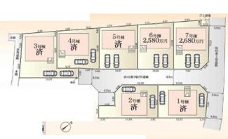 【区画図】秦野市堀山下 新築戸建 全7棟6号棟
