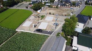 【外観】甲斐市西八幡 新築戸建全4棟 1号棟 駐車3台可能 南東向き