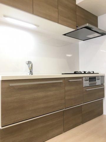 新規交換の浄水器付システムキッチン