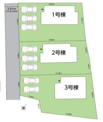 【区画図】グラファーレ泉町滝尻4期 全3棟