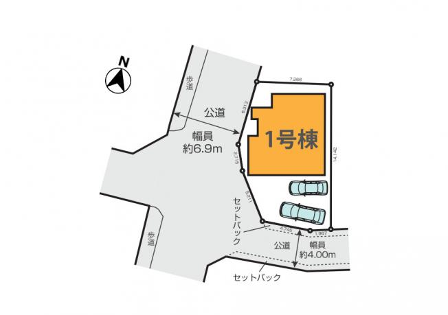 【区画図】東村山市恩多町3丁目 新築戸建