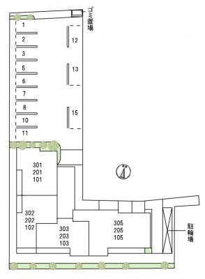 【区画図】グランべレオ鷹匠
