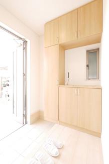 お風呂の同社施工例。浴室換気暖房乾燥機付き。