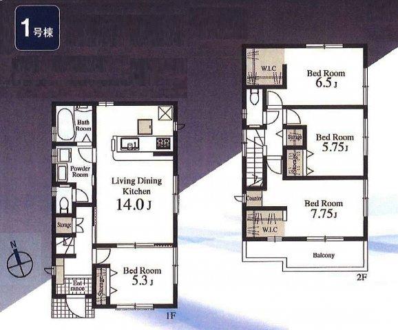 【区画図】羽村市羽加美4丁目 新築戸建全4棟