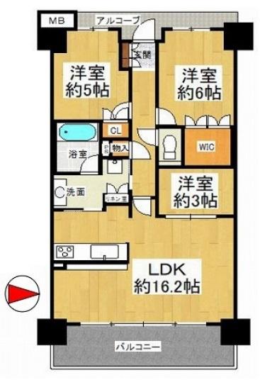 ペット飼育OK♪【3LDK+東向きバルコニー☆】リビング床暖房・食洗機完備☆LDK洋室一部壁エコカラット貼り☆2WAYキッチンで家事の動線確保♪ウォークインクローゼットあり♪