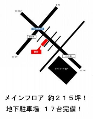 【地図】けやき通り店舗