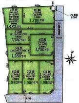 川越市むさし野南 建築条件付売地 「川越駅」バス12分 敷地35坪~ 全8区画の画像