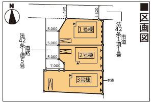 【区画図】新築建売 北上市滑田第1 2号棟