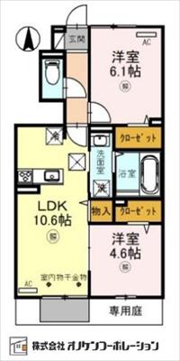 【区画図】D-room社