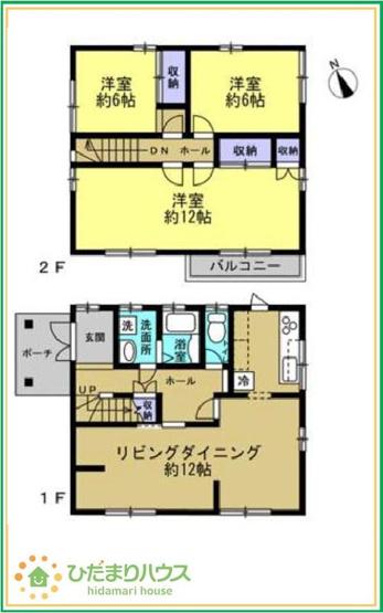 12帖の主寝室!十分な広さがあるので、大切なプライベート空間を素敵に演出できます♪