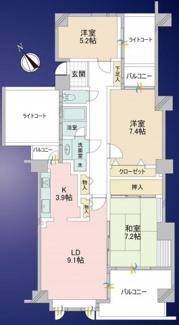【間取り】鶴巻ガ―デンシティ4号棟