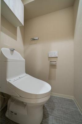 【トイレ】ライオンズプラザ浅草第2 13階 角 部屋 リ ノベーション済