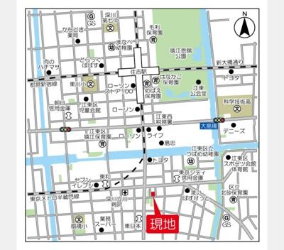 【地図】バウスフラッツ住吉