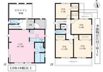 清須市清洲2期 2号棟〈仲介手数料無料〉清洲東小・清洲中 新築一戸建て の画像