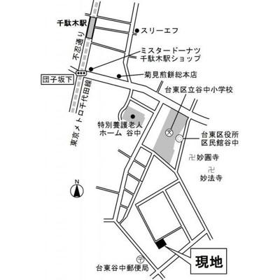【地図】ラ・コリーヌ谷中