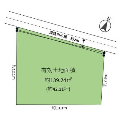 【区画図】本山北町6丁目1号地 売土地