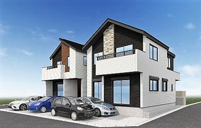 【外観パース】練馬区関町北4丁目 新築戸建 7090万円