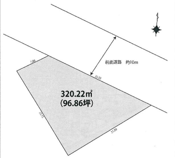 【土地図】玉井町4丁目建築条件無売地