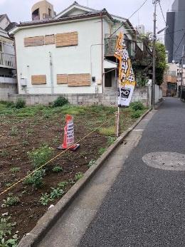【前面道路含む現地写真】板橋区大山西町 建築条件なし売地 4980万円