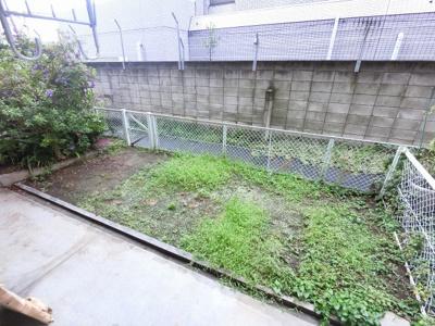 20.8平米の専用庭です。