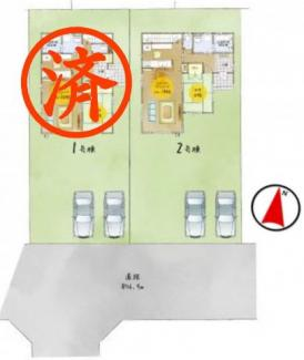 【区画図】二本松市向原新築一戸建て2棟