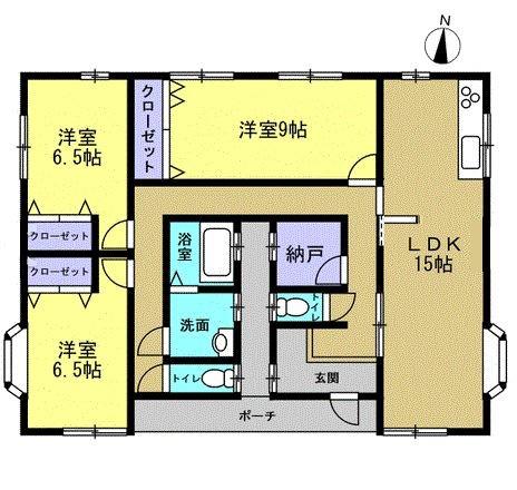 4DK 生活しやすい平屋建て、お掃除や家事もしやすいですよ。