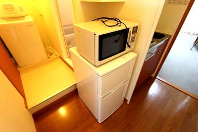 レンジ、冷蔵庫、洗濯機