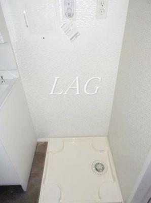 室内洗濯置き場です。(建築中です。)