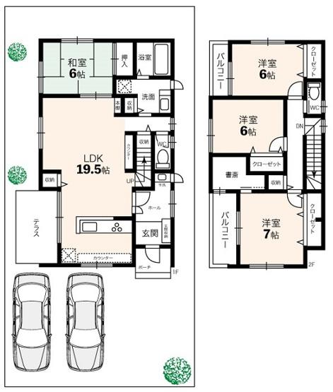 【参考プラン】室町B号地 建築条件付売地