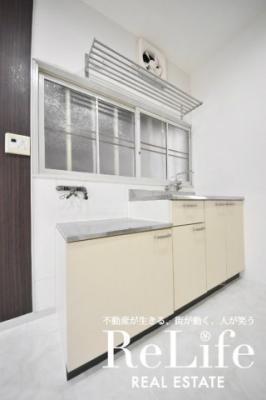 ガスコンロ対応キッチン