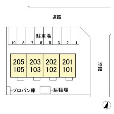 【区画図】大八木町 北高崎駅 2階 1LDK