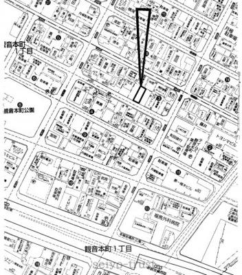 【区画図】西区観音本町1丁目