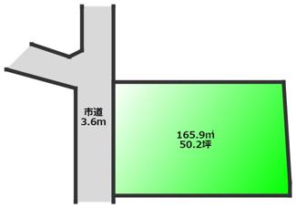 敷地約50坪の整形地 高低差も少ない立地