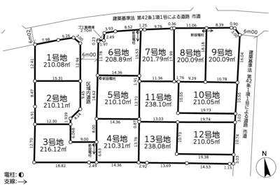 【区画図】土浦市滝田第8