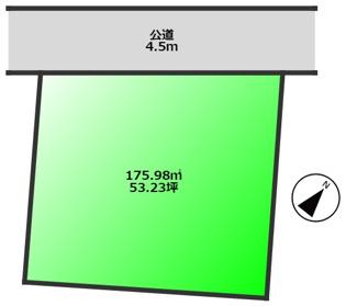 敷地約53坪の綺麗に整った立地 高低差の少ない立地