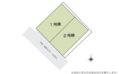 【地図】うるま市石川東山本町(全2棟)
