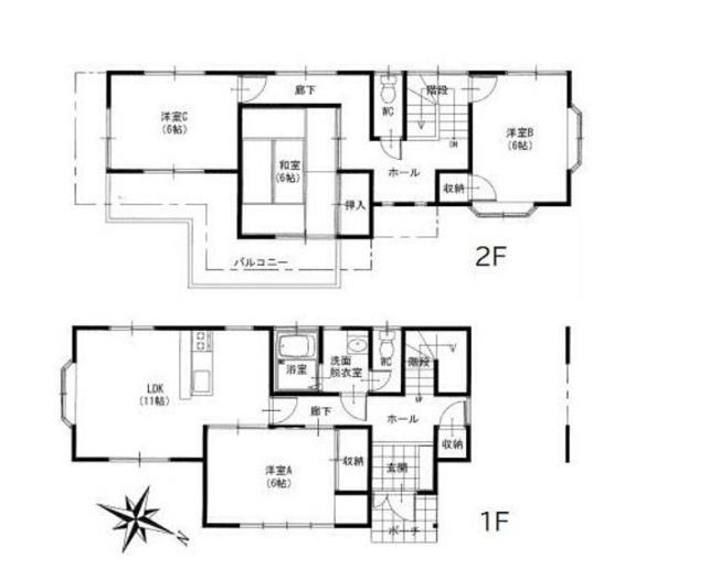 土地面積132.24平米、建物面積96.05平米~南東向き、広々とした4LDK、内外装リフォーム済