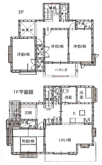 土地面積221.49平米、建物面積102.24平米~南向きに付き日当たり良好、全居室6帖以上のゆったりとした4LDK、建物は十分使用可能