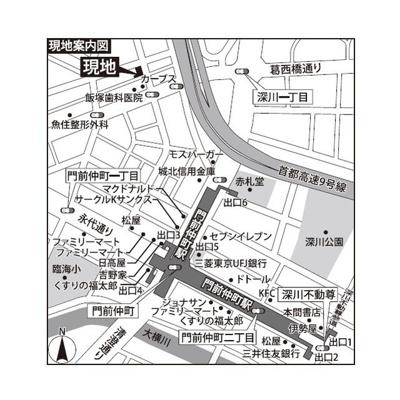 【地図】グランドルチェ門前仲町
