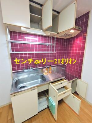 【キッチン】パールハウス2号棟
