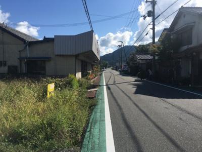 【前面道路含む現地写真】丹波篠山市日置 売土地450