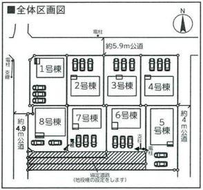 【区画図】伊勢崎市曲沢町 6号棟