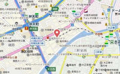 【地図】ステイブルコート弁天町