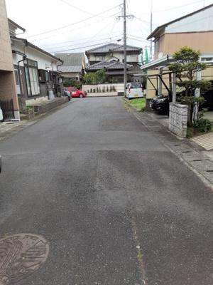 【前面道路含む現地写真】鳥取市国府町新通り土地